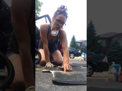 DCS Automotive Detailing Salt Staining Car  Carpet Removal