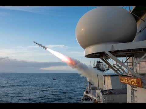 Belgian Navy Frigate Louise Marie Fires Harpoon Missile For The First Time