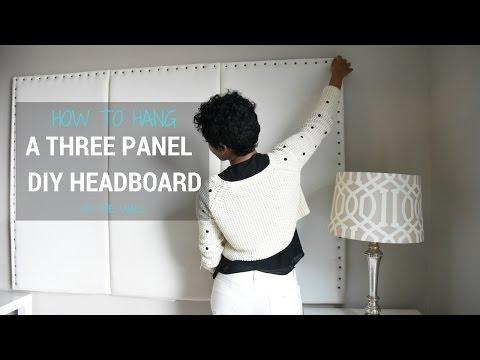 DIY Headboard - How to Hang a 3 Panel Headboard