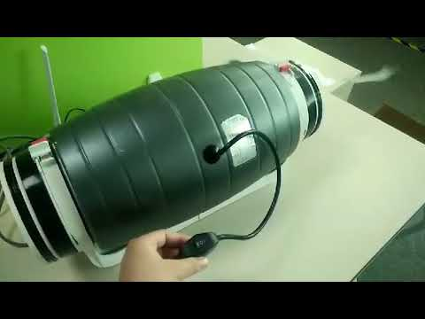 Silent inline fan with 2 speed controller
