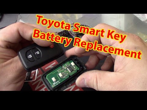 Toyota Smart Key Battery Replacement 2007-2017