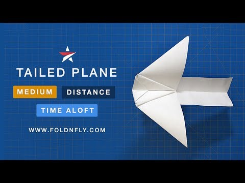 ✈ Unique Tailed Paper Airplane That Flies Well - Fold 'N Fly
