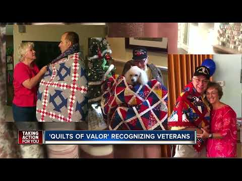 Quilters in Tampa honor veterans with special quilts of valor