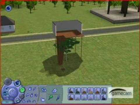 how to make a tree house in sims 2