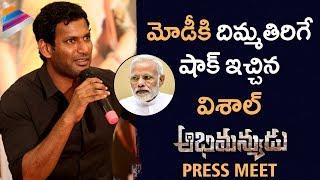Vishal Shocking Comments on PM Modi | Abhimanyudu Movie Press Meet | Samantha | Telugu FilmNagar