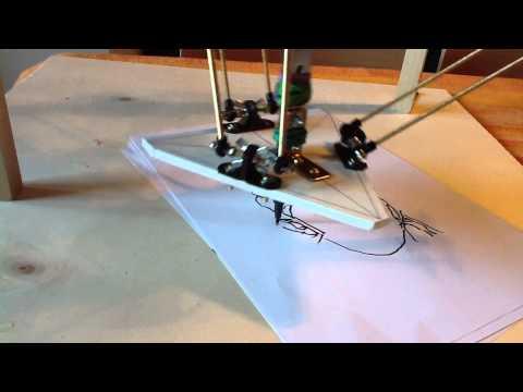 Leonarduino - Delta Robot Drawing - First Test