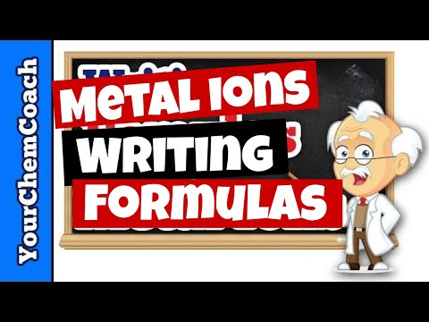 How to Write Chemical Formulas with Metal Cations - Mr. Causey's Chemistry