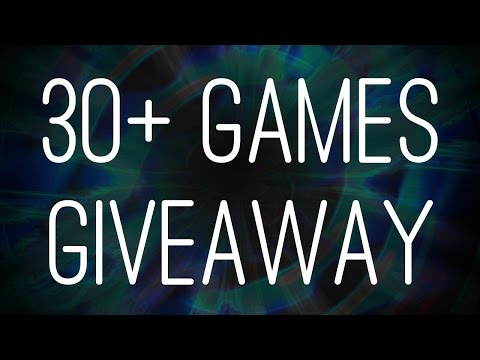 30+ Games Giveaway CLOSED + Skyrim Let's Play 01