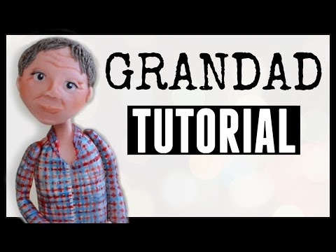 Grumpy old man cake topper | Fondant check shirt tutorial