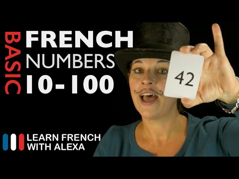 How to count from 10 to 100 in French - Learn French With Alexa