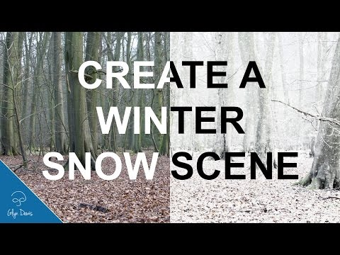 Create a Winter Snow Scene with Photoshop #65
