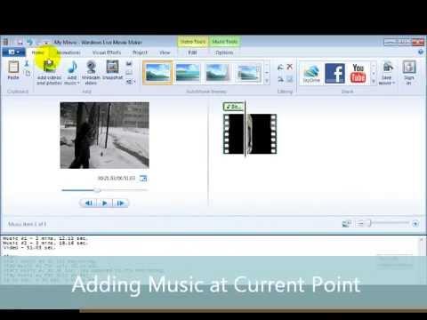 Module #4 - Adding Audio Files to a Video Using Windows Live Movie Maker