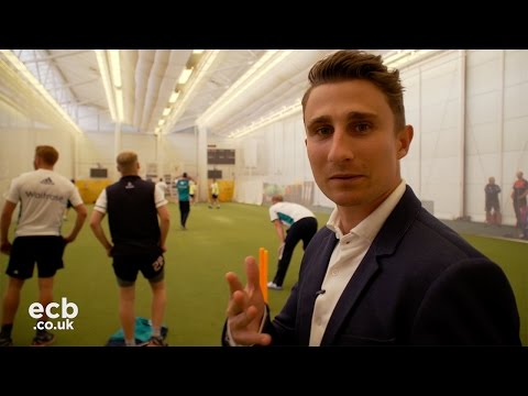 James Taylor behind the scenes at England cricket net session