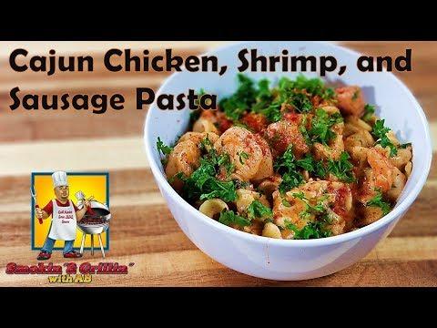Cajun Chicken, Shrimp, and Sausage Rotini Pasta