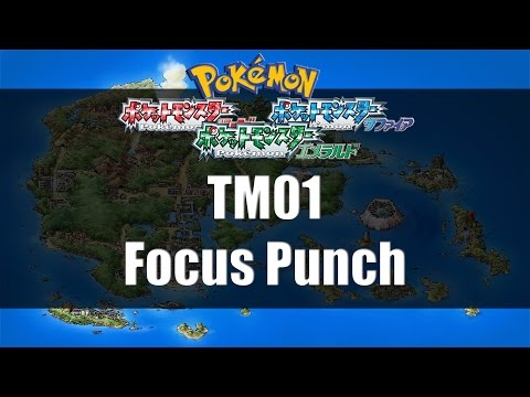 Pokemon Ruby/Sapphire/Emerald - Where to find TM01 Focus Punch