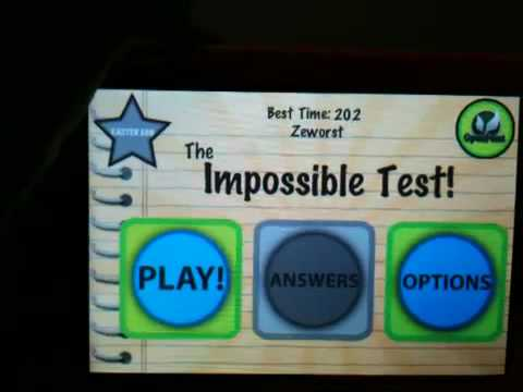 The impossible test iPod/IPhone answers HQ with answers in the description