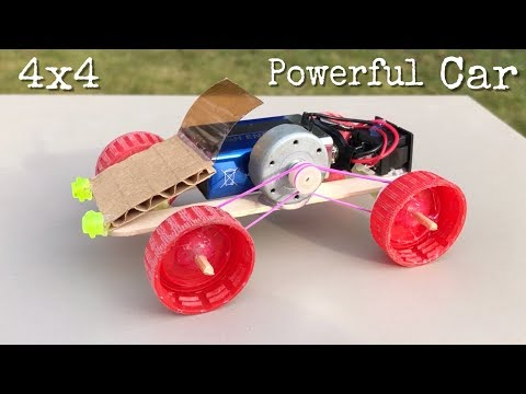 How to Make Mini All Wheel Drive Car - Very Simple to Build