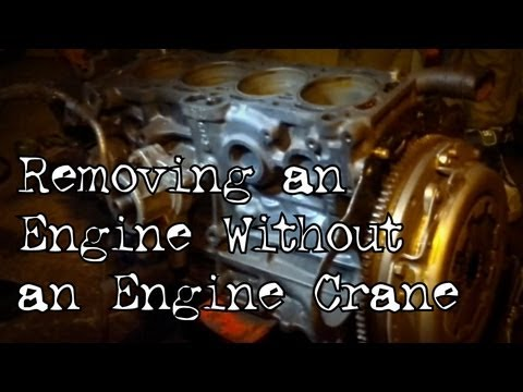 How to Remove an Engine Block Without an Engine Crane - The Retro Lab