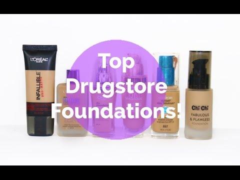 TOP DRUGSTORE FOUNDATIONS | NIKKIA JOY