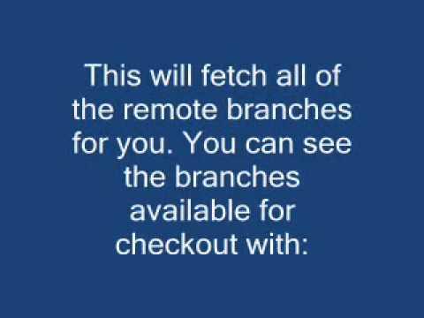 Checkout remote Git branch