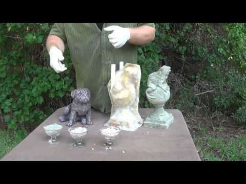 How to make concrete statues using latex rubber molds - Part 3 What you need to mix concrete