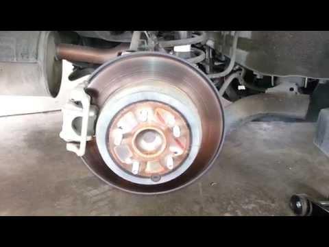 2011 Honda CR-V Rear Brake Caliper, Bracket & Rotor - Checking Rear Disc Brake Pads At 50,000 Miles