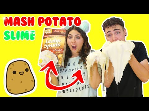 MASHED POTATO SLIME | Making slime with potato | Slimeatory #134