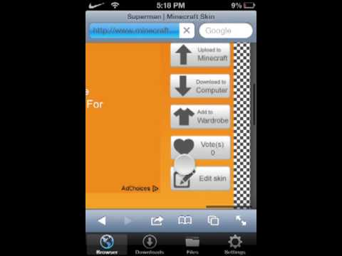 How to change your minecraft skin on minecraft PE