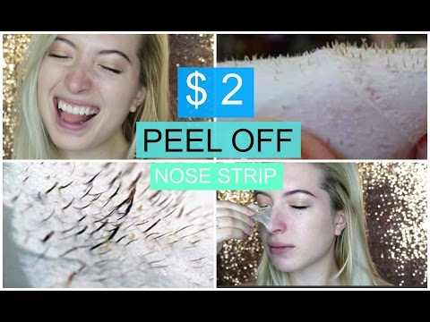 DIY $2 Peel Off Nose Strip | Best Peel Off Mask REMOVES EVERYTHING 2016