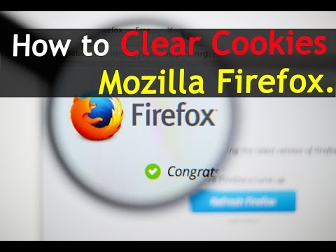 How To Clear Cookies in Mozilla Firefox.