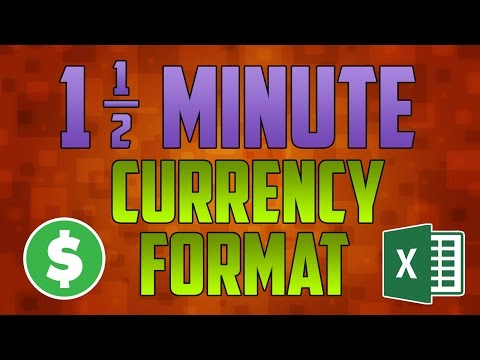 Excel 2016 : How to Change Currency