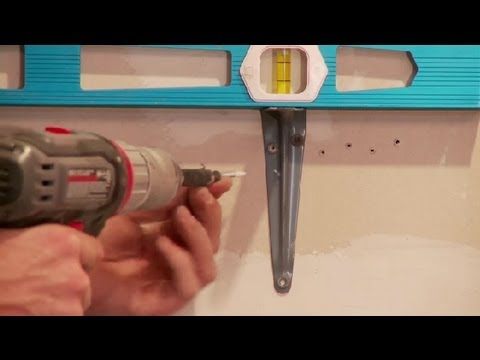 How to Mount Shelf Brackets : Home Improvements