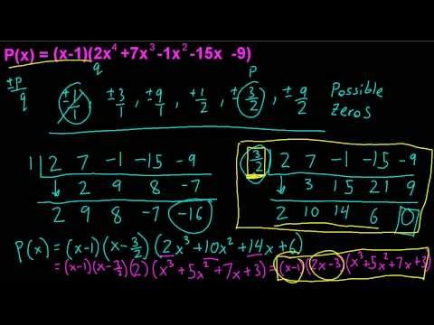 Precalculus - Factoring Higher Order Polynomials - Synthetic Division