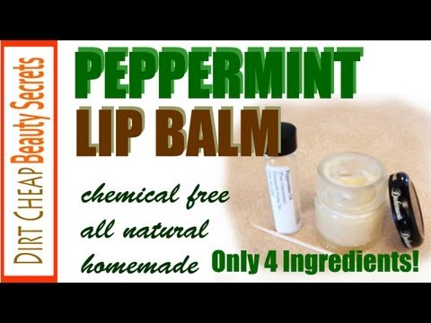 Homemade Peppermint Lip Balm (DIY All Natural)