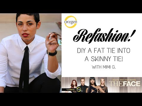 Refashion! Turn a Fat Tie Into a Skinny Tie