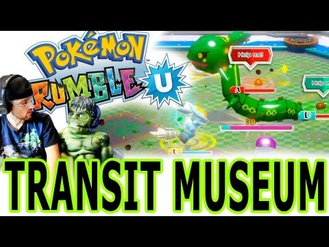 Pokemon Rumble U - Completing Transit Museum - Rayquaza Defeat!