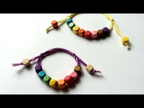 How To Make  Sliding Knot Beaded Friendship Bracelet - DIY Style Tutorial - Guidecentral