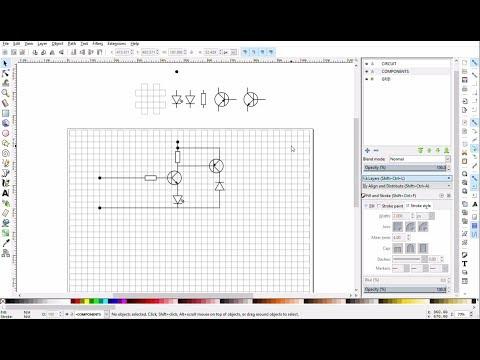 Inkscape Tutorial: Create Schematic Diagram Editor
