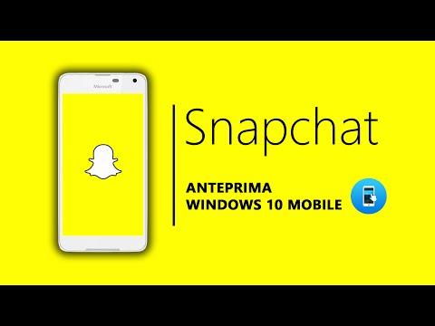Snapchat per WIndows 10 Mobile - ANTEPRIMA!