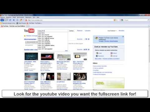 How To: Get Fullscreen Youtube links!