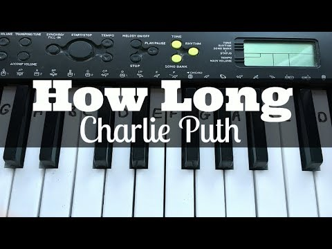 How Long - Charlie Puth | Easy Keyboard Tutorial With Notes (Right Hand)