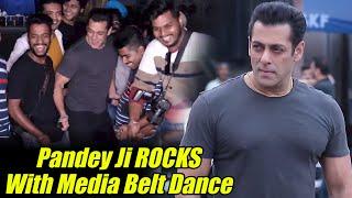 Salman Khan Munna Badnaam Hua Dance With Media   Dabangg 3