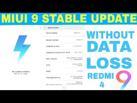 Xiaomi Redmi 4 MIUI 9 Global Stable Update | Without Loss Data