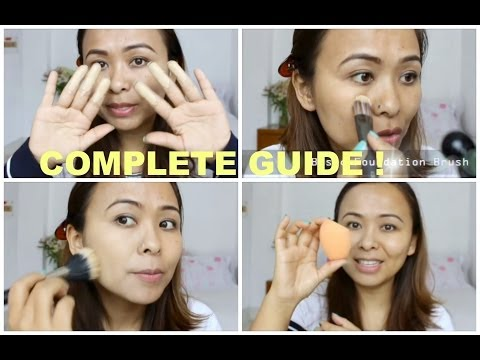 How To Apply Liquid Foundation: Fingers, Brushes and Sponge | Complete Demo | TiTi's Corner