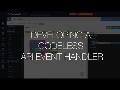 Developing a Codeless API Event Handler