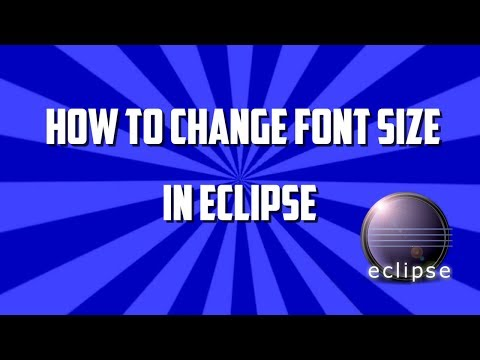increasing font size in eclipse