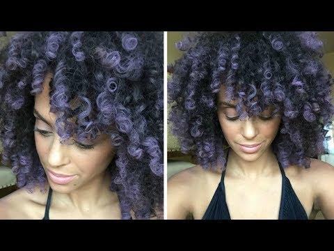 TEMPORARY HAIR COLOR ON FINE, CURLY HAIR | SPLAT HAIR CHALK | DISCOCURLSTV