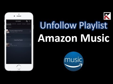 How To Unfollow Playlist Amazon Music