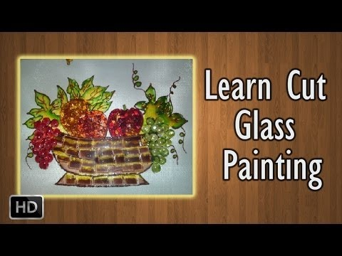 Learn How to Paint - Cut Glass Painting - Basic Glass Painting Techniques