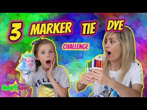 3 MARKER TIE DYE SHIRTS CHALLENGE!! DIY FUN SHIRTS!! CAMISETAS DIVERTIDAS